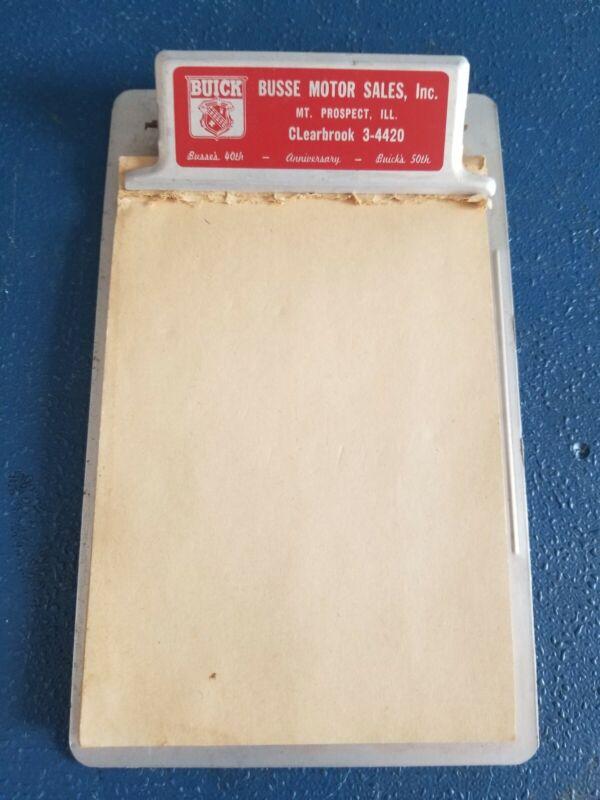 1952 Busse Motor Sales 40 Yrs Mt Prospect IL Buick car oil dealership clipboard