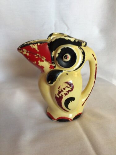 VINTAGE ART DECO TOUCAN PITCHER