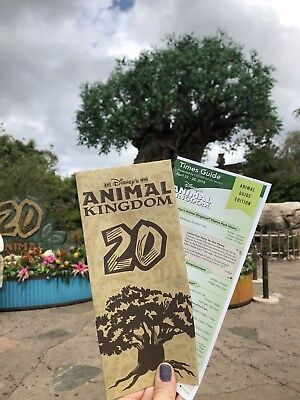 Animal Kingdom 20th Anniversary LIMITED EDITION Event & Guide Map!