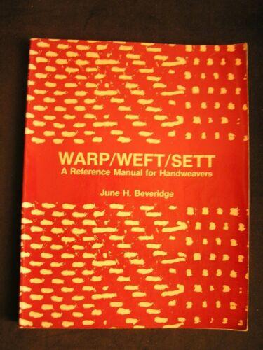 Weaving, Handweaving WARP/WEFT/SETT guide to select best combinations