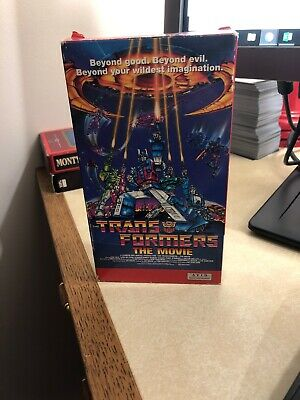 Transformers: The Movie (VHS, 1991) AVID Home Ent. Rare Early Slip