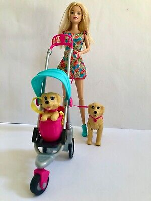 Barbie Doll Strollin Pups New in Box barbie , taffy & PUP with dog stroller 2014