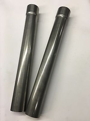 """Bundle of 2: 2.25"""" OD -  2.25"""" ID 36"""" Long Stainless Steel Exhaust pipe"""