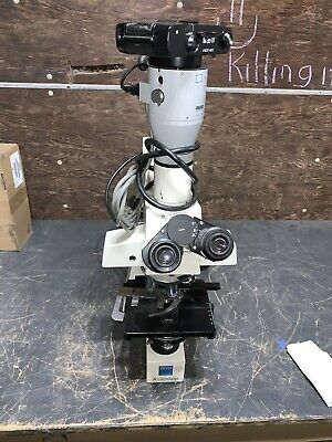 Zeiss Axioskop Upright Light Fluorescence Microscope- Hb 100- Eyepieces