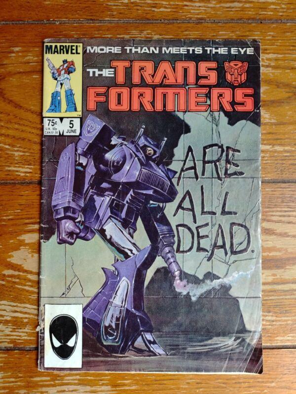 Transformers, The Transformers Are All Dead, Vol. 1, No. 5, June 1985.