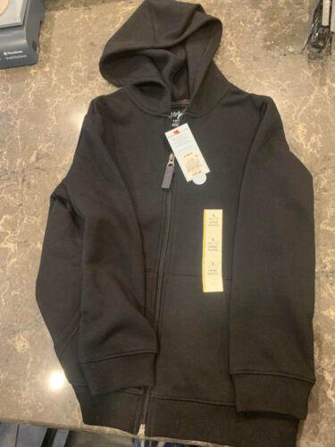 NWT Cat & Jack Boys/Girls Black Full Zip Hoodie Sweatshirt Small (6/7X)