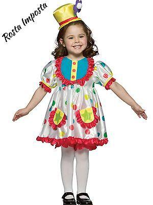 New Clown Costume Girls Halloween Costume Size 4-6X By Rasta Imposta 3 Pieces (Girls Clown Costumes)