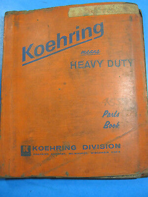 Koehring Bantam 455 Skooper Hoe Parts Book Catalog