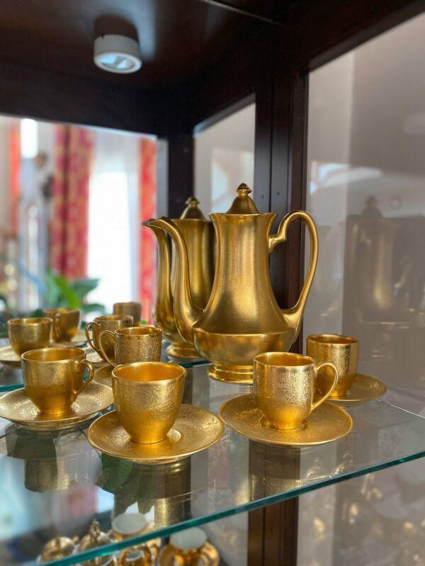 Pickard Limoges Bavaria GOLD Tea Set Complete Marked