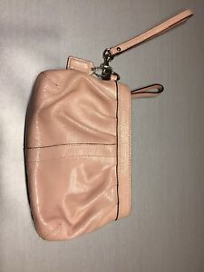 Coach wristlet in blush pink - excellent condition