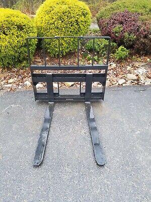 New 4200 Pallet Fork Attachment For Skid Steer-fits Bocbat More-48adjustable