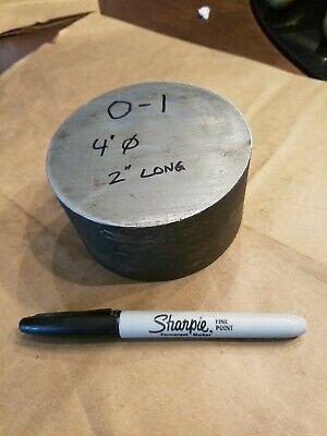 O1 Tool Steel Round Rod Bar 4 Diameter X 2 Long