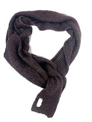 FREE PEOPLE Chunky Knit Deep Plum Combo Oversized  Scarf Free Knitting Scarf