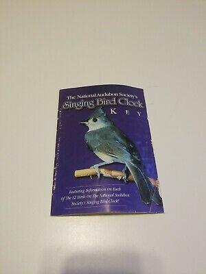 National Audubon Society Singing Bird Clock Key Booklet Key Manual Telebrands