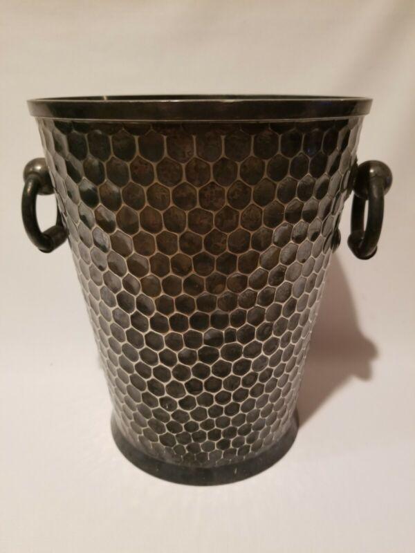 Antique Wilcox SilverPlate Co. Meridan Conn HoneyComb Ice Champagne Wine Bucket