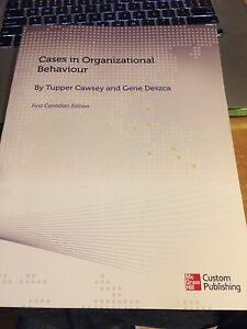 Cases in Organizational Behaviour Caseway & Deszca