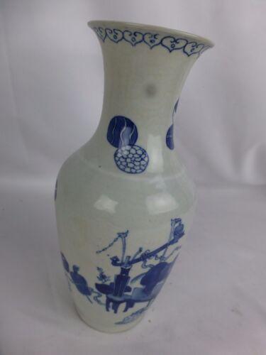 """Nice antique chinese white and blue vase, minor damage 8"""""""