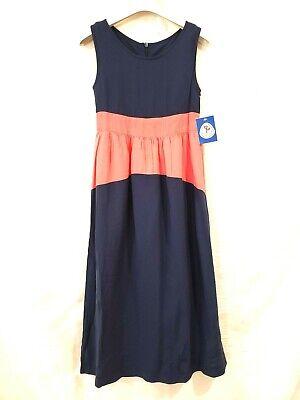NWT Monsieur Jumper Maxi Dress Girls Outfit Size 6 Blue Orange Color Vintage