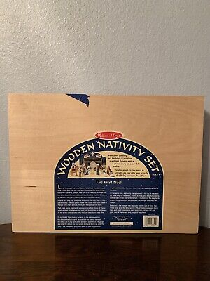 Melissa and Doug wooden nativity set the first Noel