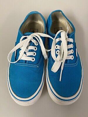 VANS Canvas Casual Shoes Trainers Blue Unisex Size US Mens 6/7.5,UK 5