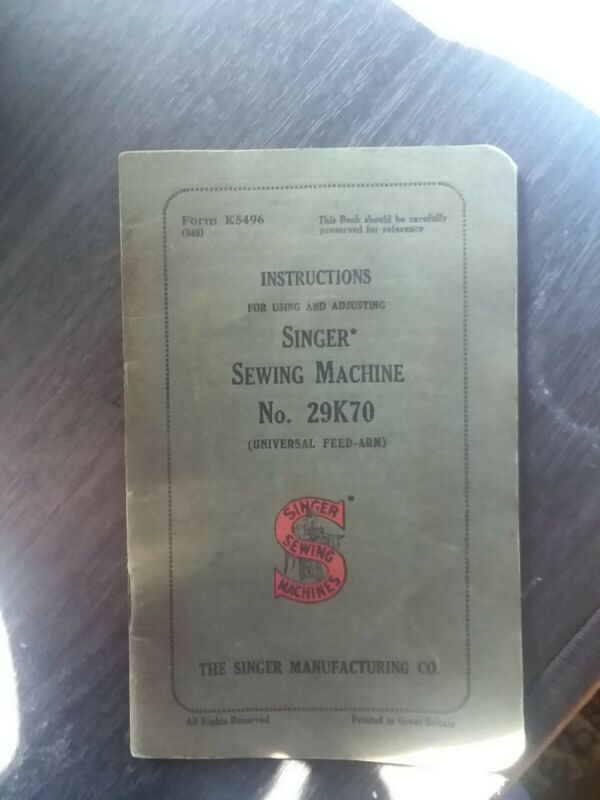 User manual singer machine