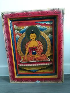 Handpainted Hanging Buddha