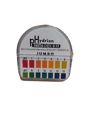 Ph Test Paper Phydrion Insta-chek 0-13 Jumbo Cat Hj613 With Blackcase