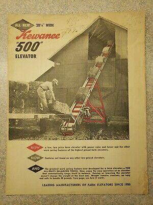 Old Kewanee 500 Grain Hay Elevator Sales Brochure Farm Equipment