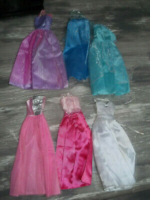 Doll Clothes - Barbie - Lot 6 Dresses / Gowns