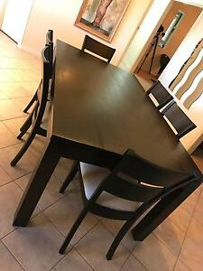 Solid timber dining set Greenwith Tea Tree Gully Area Preview