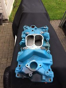 Edelbrock performer rpm intake manifold small block chevy