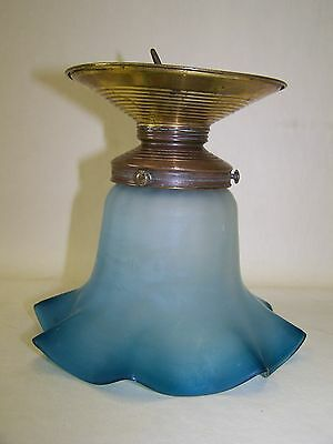 Beautiful Old Art Nouveau Style Lamp Glas Hanging Lamp