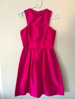 Razak Pink Silk Dress with bow detail