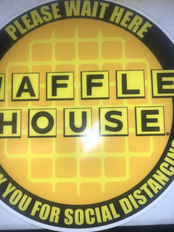 JUST IN BRAND SPANKING NEW WAFFLE HOUSE SOCIAL DISTANCING FLOOR STICKERS
