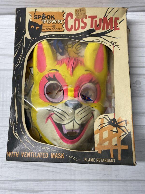 Vintage 1960s Ben Cooper Spook Town Halloween KIDS BUNNY Costume with worn box