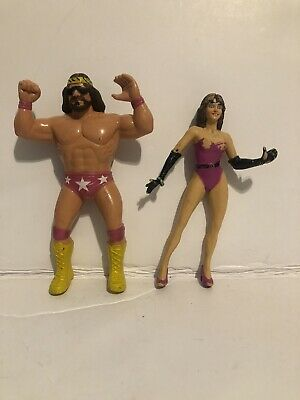 Macho Man Randy Savage Elizabeth LJN WWF Action Figure Loose Rare WWE WCW