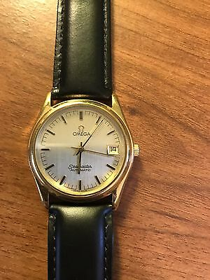 VINTAGE OMEGA SEAMASTER DATE GOLD TONE AUTOMATIC MENS WATCH