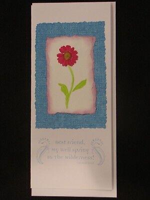 Flowers, best friend: handmade greeting card