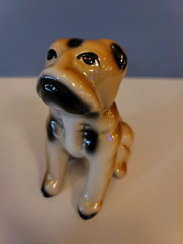 Vintage 1940s Japanese Bulldog Ceramic Figure