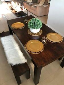 Table and 2x bench seat