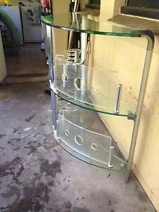 GLASS & CHROME BAR - FUNCTIONAL & FUNKY - $150 ONO Naremburn Willoughby Area Preview