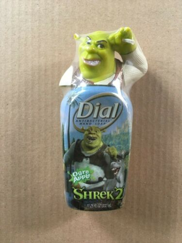 2004 SHREK 2 Ogre Apple Dial Hand Soap Collectible 11.25 oz. Dispenser, Sealed