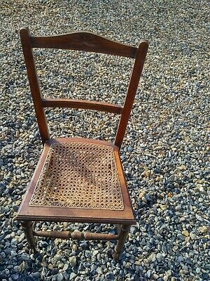 Vintage Pretty Wooden Chair with Wicker Seat.Used item Seat Needs Abit of Tlc