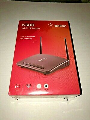 Brand NEW Belkin F9K1010 300Mbps Wireless-N300 4-Port Router w//2-Antenna
