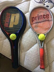 2x prince tennis racquets with 2 balls Highgate Perth City Area Preview
