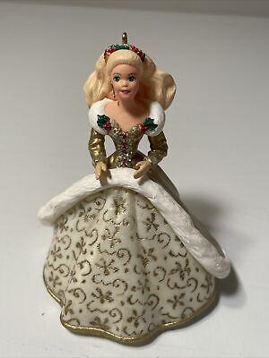 Hallmark Keepsake Ornament Christmas Barbie Collector #2 Gold Brocade Gown 1994