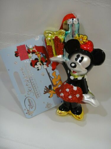 NWT Disney Store 2015 Minnie Mouse Sketchbook Christmas Ornament