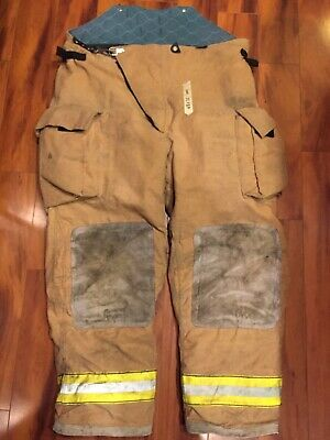 Firefighter Turnout Bunker Pants Globe 48x32 2002 Bib Style Halloween Costume