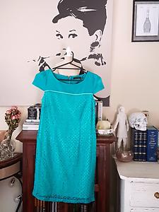 Turquoise Lace Portmans Dress Size 8 Eden Hill Bassendean Area Preview