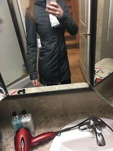 Charcoal maternity coat